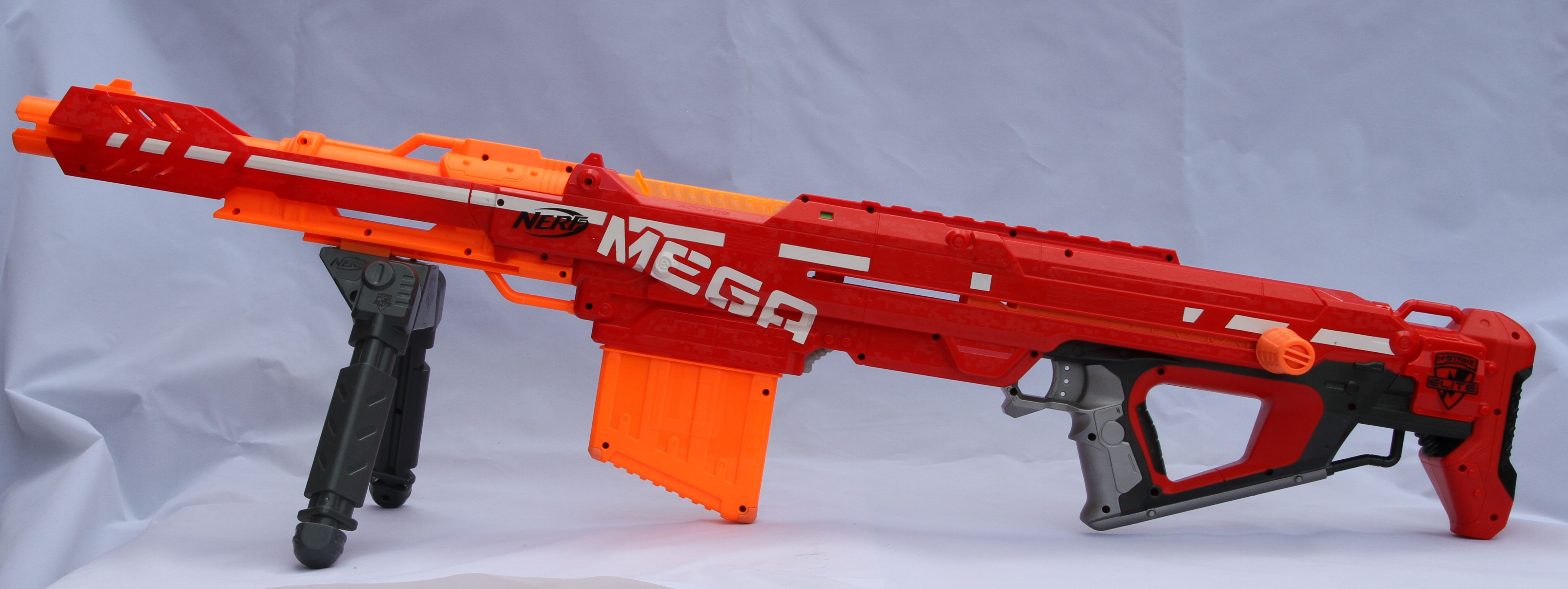 Nerf N-Strike Elite Mega Centurion Sniper Rifle With Bipod and Ammo ...